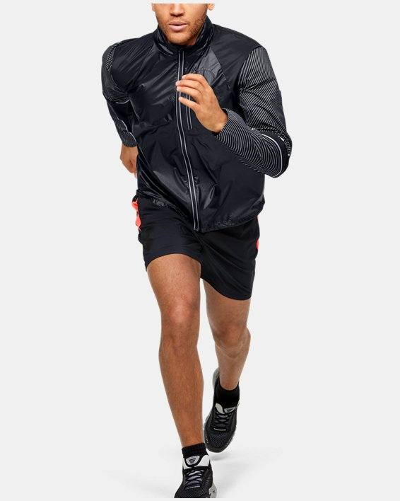 Men's UA Run Impasse Wind Reflect Jacket, Black, pdpMainDesktop image number 0