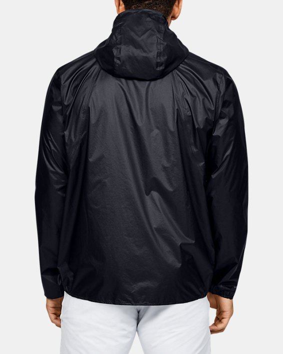 Men's UA Impasse Rain Shell Jacket, Black, pdpMainDesktop image number 2