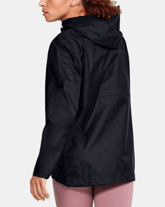 Women's UA Cloudburst Shell Jacket, Black, pdpMainDesktop image number 2
