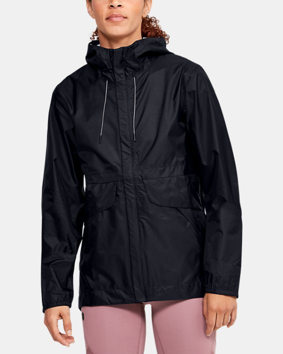 Women's UA Cloudburst Shell Jacket, Black, pdpMainDesktop image number 0