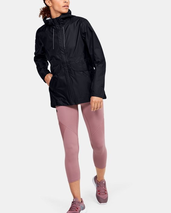 Women's UA Cloudburst Shell Jacket, Black, pdpMainDesktop image number 1
