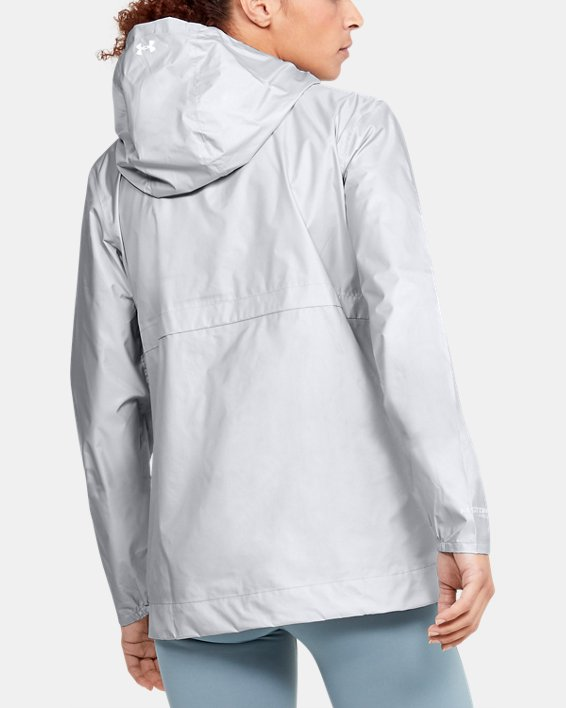 Women's UA Cloudburst Shell Jacket, Gray, pdpMainDesktop image number 2