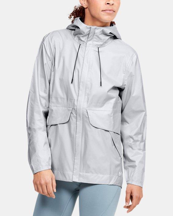 Women's UA Cloudburst Shell Jacket, Gray, pdpMainDesktop image number 0