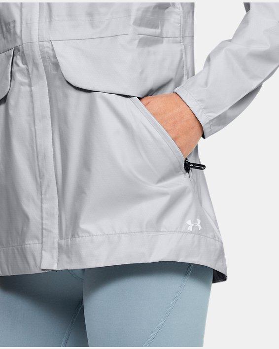Women's UA Cloudburst Shell Jacket, Gray, pdpMainDesktop image number 5