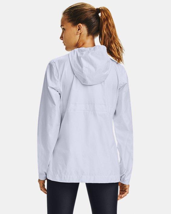 Women's UA Cloudburst Shell Jacket, White, pdpMainDesktop image number 2