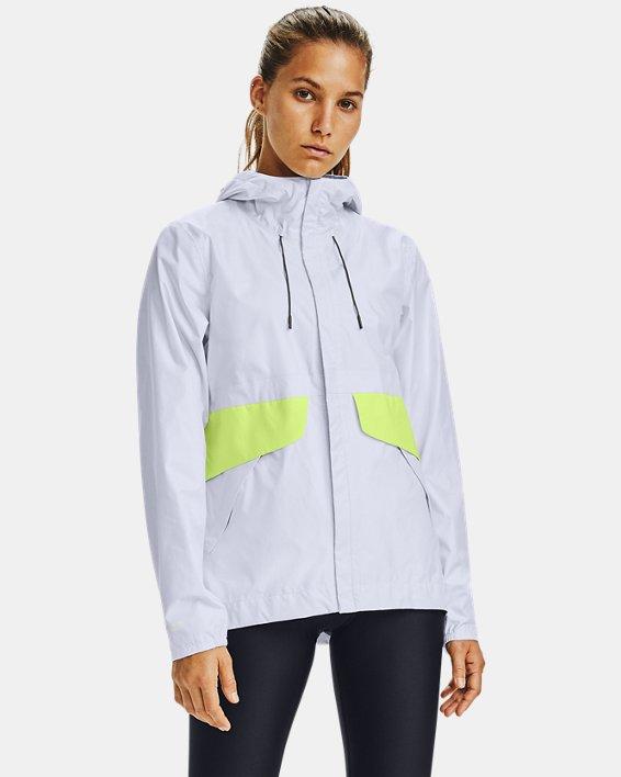 Women's UA Cloudburst Shell Jacket, White, pdpMainDesktop image number 0