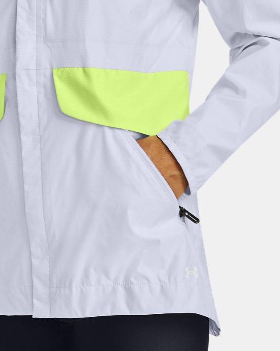 Women's UA Cloudburst Shell Jacket, White, pdpMainDesktop image number 5