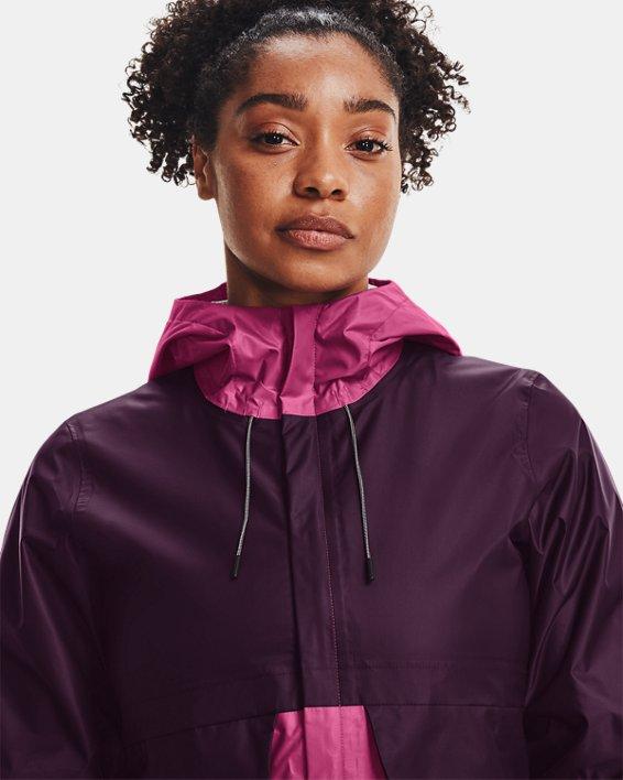 Women's UA Cloudstrike Shell Jacket, Purple, pdpMainDesktop image number 3