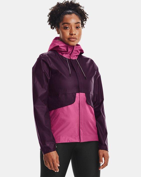 Women's UA Cloudstrike Shell Jacket, Purple, pdpMainDesktop image number 0