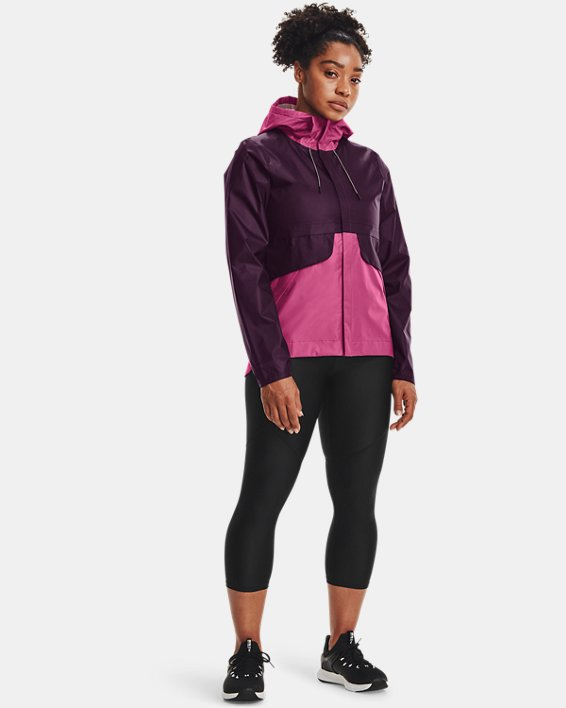 Women's UA Cloudstrike Shell Jacket, Purple, pdpMainDesktop image number 2