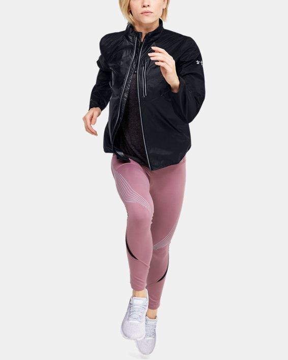 Veste coupe-vent UA Run Impasse pour femme, Black, pdpMainDesktop image number 1