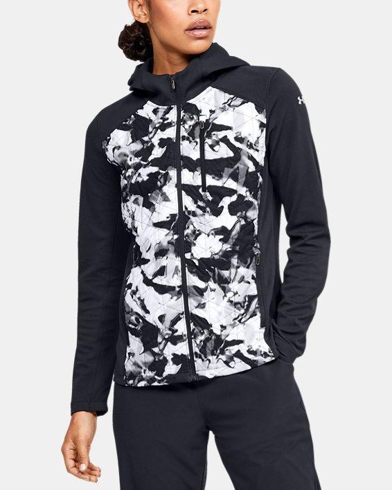 Women's ColdGear® Reactor Hybrid Lite Print Jacket, Black, pdpMainDesktop image number 0