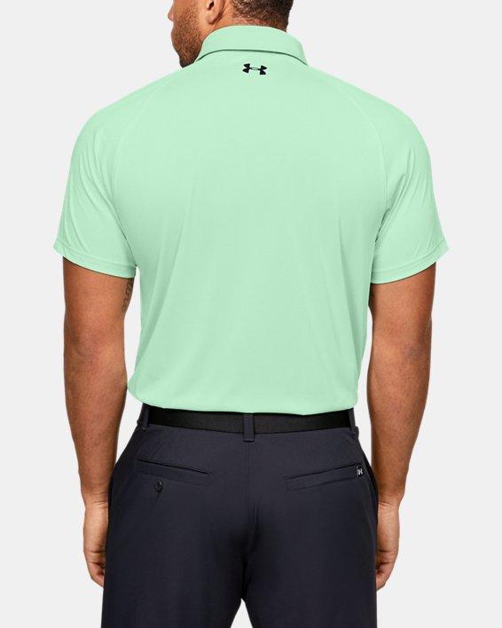 Men's UA Vanish Chest Stripe Polo, Green, pdpMainDesktop image number 2