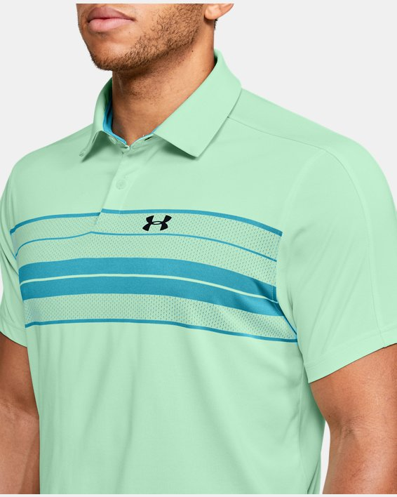 Men's UA Vanish Chest Stripe Polo, Green, pdpMainDesktop image number 5