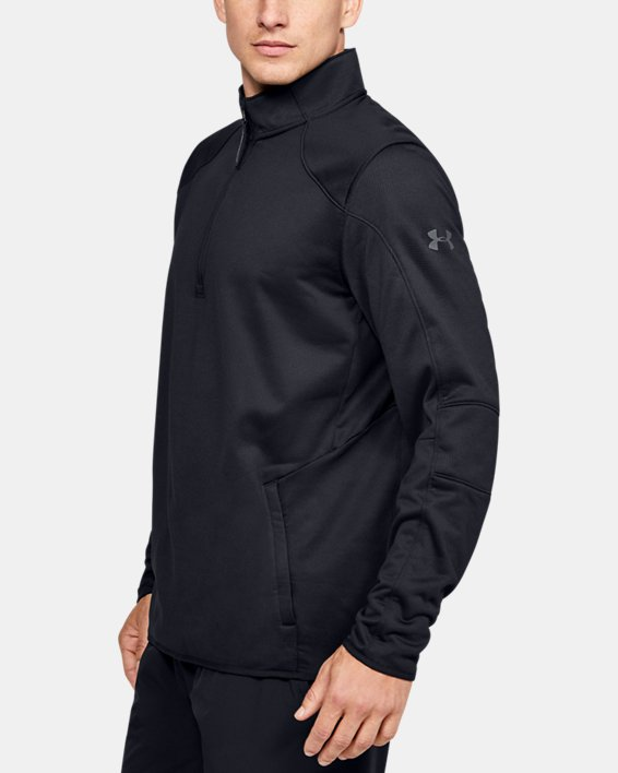 Fleece 1/2 Zip, Black, pdpMainDesktop image number 3