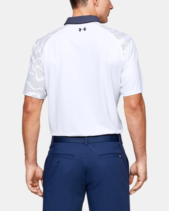 Men's UA Iso-Chill Shadow Polo, White, pdpMainDesktop image number 2
