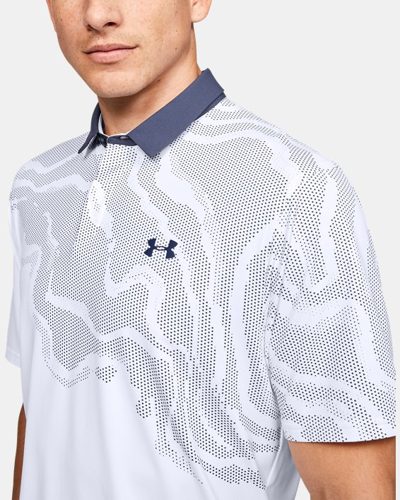 Men's UA Iso-Chill Shadow Polo, White, pdpMainDesktop image number 5