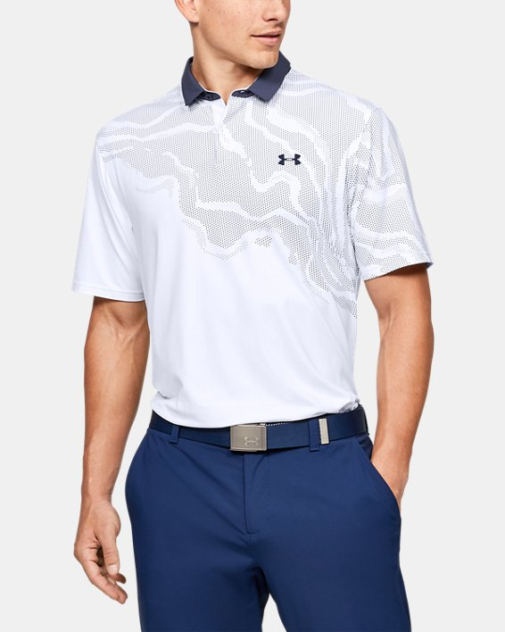 Men's UA Iso-Chill Shadow Polo, White, pdpMainDesktop image number 0