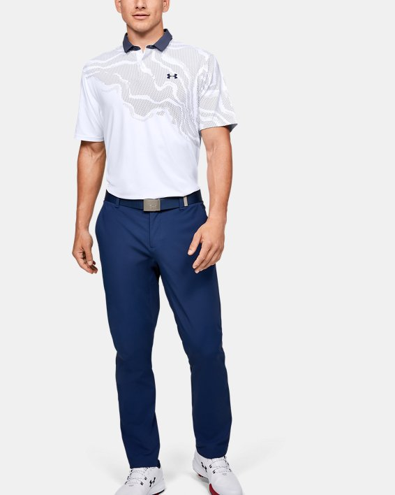 Men's UA Iso-Chill Shadow Polo, White, pdpMainDesktop image number 1