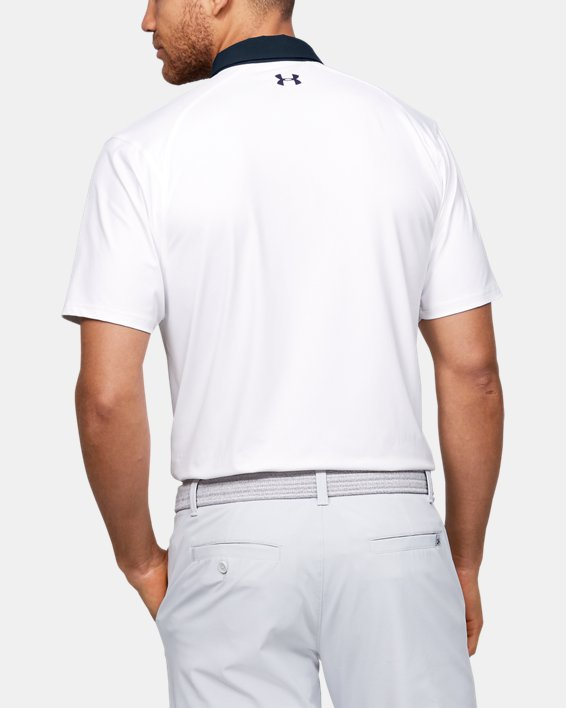Men's UA Iso-Chill Graphic Polo, White, pdpMainDesktop image number 2