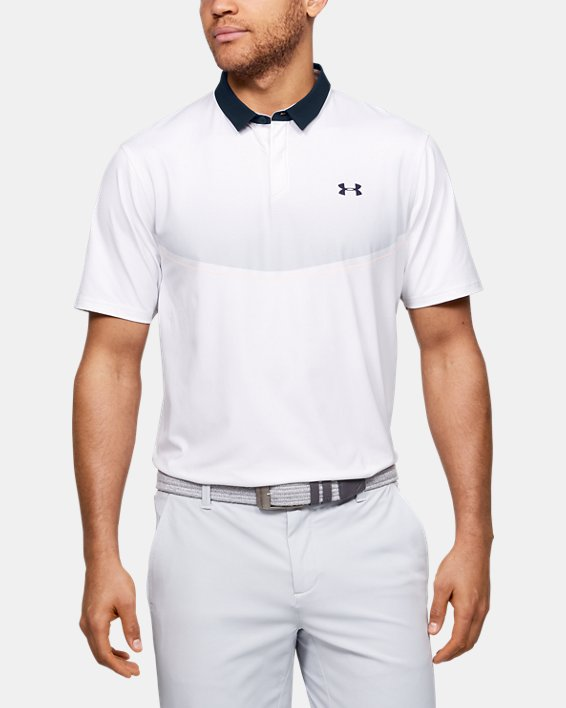 Men's UA Iso-Chill Graphic Polo, White, pdpMainDesktop image number 0