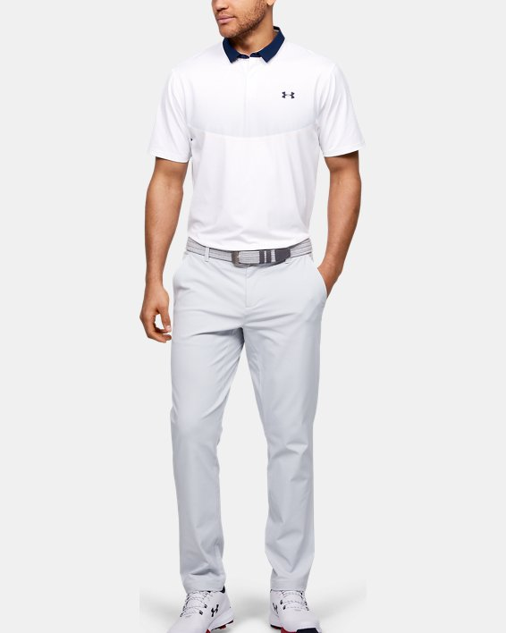 Men's UA Iso-Chill Graphic Polo, White, pdpMainDesktop image number 1