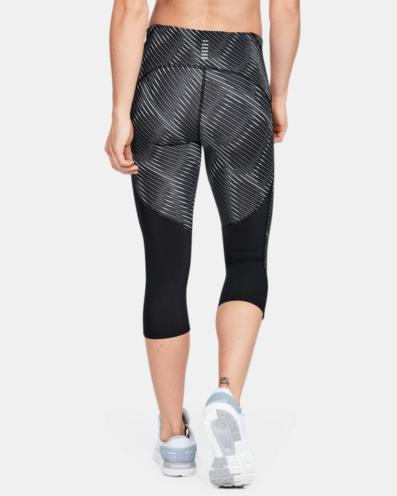 Women's UA Fly Fast Printed Capri, Black, pdpMainDesktop image number 2