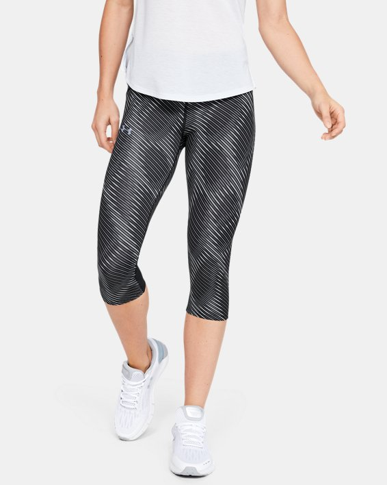 Women's UA Fly Fast Printed Capri, Black, pdpMainDesktop image number 1
