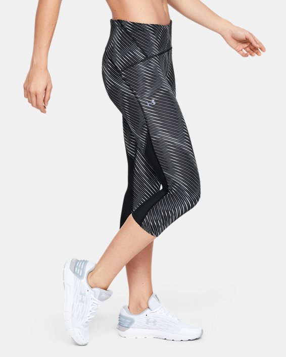 Women's UA Fly Fast Printed Capri, Black, pdpMainDesktop image number 3