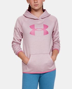 34daa63b0 New Arrival Girls' Armour Fleece® Big Logo Twist Hoodie 4 Colors Available  $40