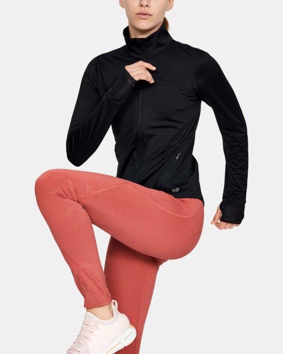 Women's UA RUSH™ Full Zip, Black, pdpMainDesktop image number 1