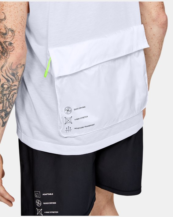 Men's UA Always On Sleeveless ½ Zip, White, pdpMainDesktop image number 5