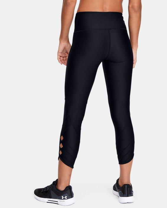 Women's HeatGear® Armour Cutout Ankle Crop, Black, pdpMainDesktop image number 2