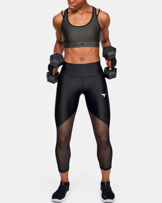 Women's Project Rock HeatGear® Armour Mesh Ankle Crop, Black, pdpMainDesktop image number 0