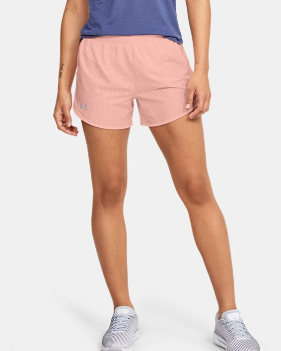 Women's UA Fly-By 2.0 Cire Perforated Shorts, Orange, pdpMainDesktop image number 0