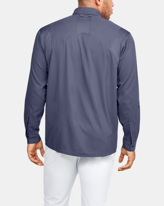 Men's UA Tide Chaser 2.0 Long Sleeve, Blue, pdpMainDesktop image number 2