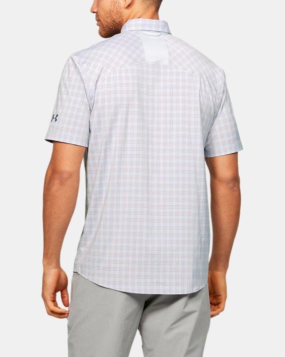 Men's UA High Tide Plaid Short Sleeve, Gray, pdpMainDesktop image number 2