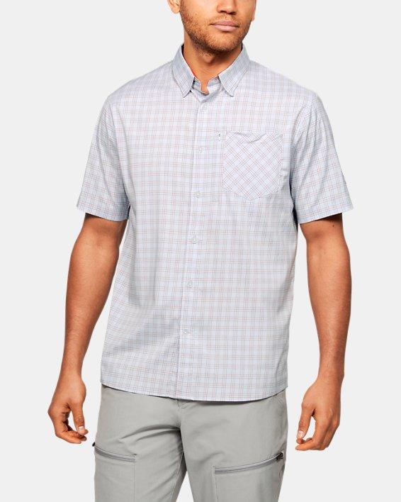 Men's UA High Tide Plaid Short Sleeve, Gray, pdpMainDesktop image number 0