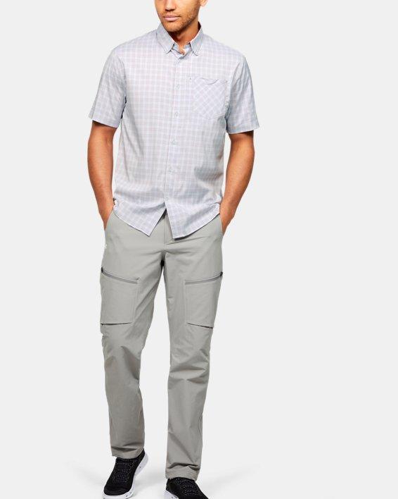 Men's UA High Tide Plaid Short Sleeve, Gray, pdpMainDesktop image number 1
