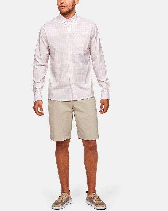 Men's UA High Tide Plaid Long Sleeve, Gray, pdpMainDesktop image number 1