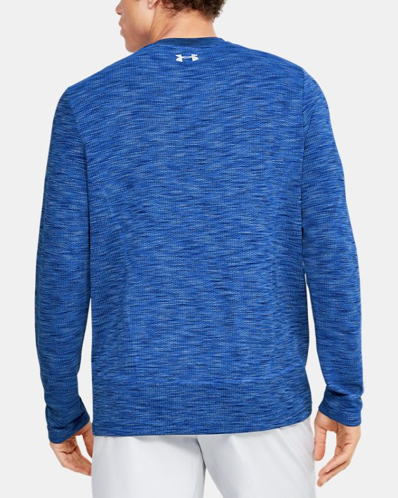 Men's UA Fish Hunter Seamless Long Sleeve, Blue, pdpMainDesktop image number 2