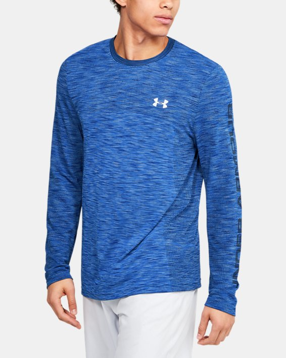 Men's UA Fish Hunter Seamless Long Sleeve, Blue, pdpMainDesktop image number 0