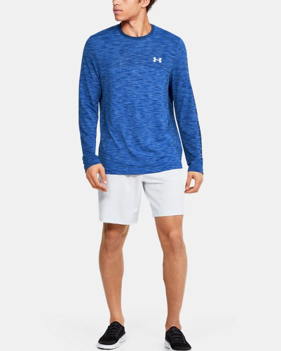 Men's UA Fish Hunter Seamless Long Sleeve, Blue, pdpMainDesktop image number 1