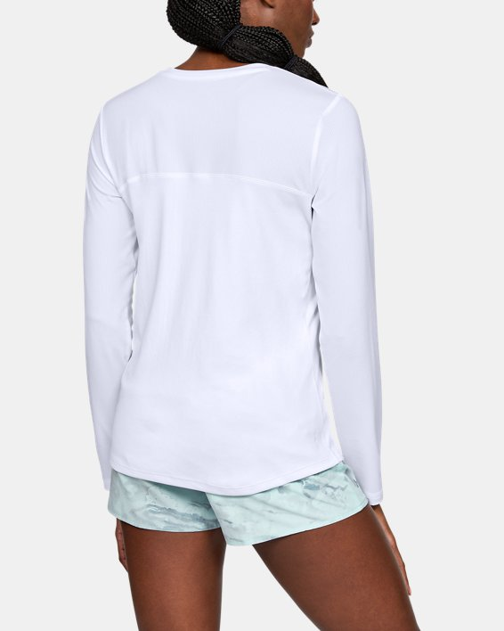 Women's UA Iso-Chill Shore Break Long Sleeve, White, pdpMainDesktop image number 2