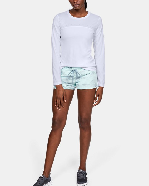 Women's UA Iso-Chill Shore Break Long Sleeve, White, pdpMainDesktop image number 1