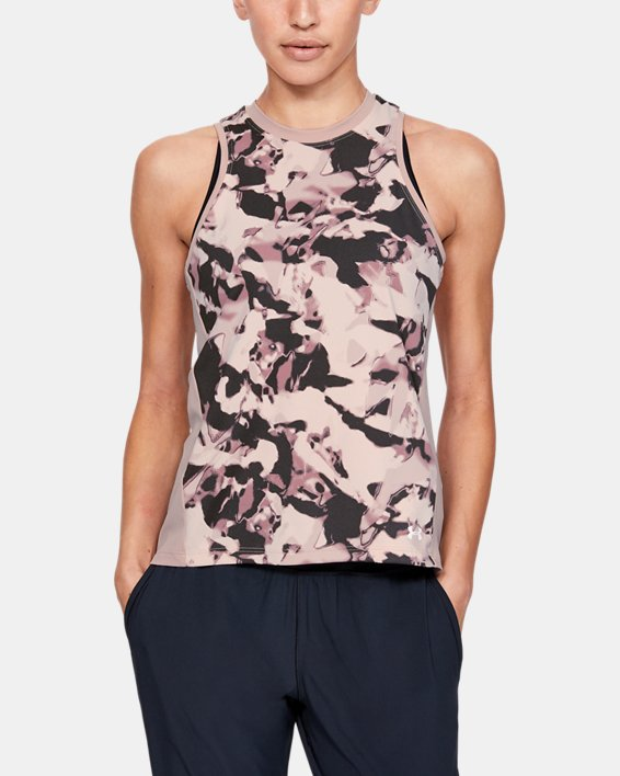 Women's UA Iso-Chill Tank Top, Pink, pdpMainDesktop image number 0