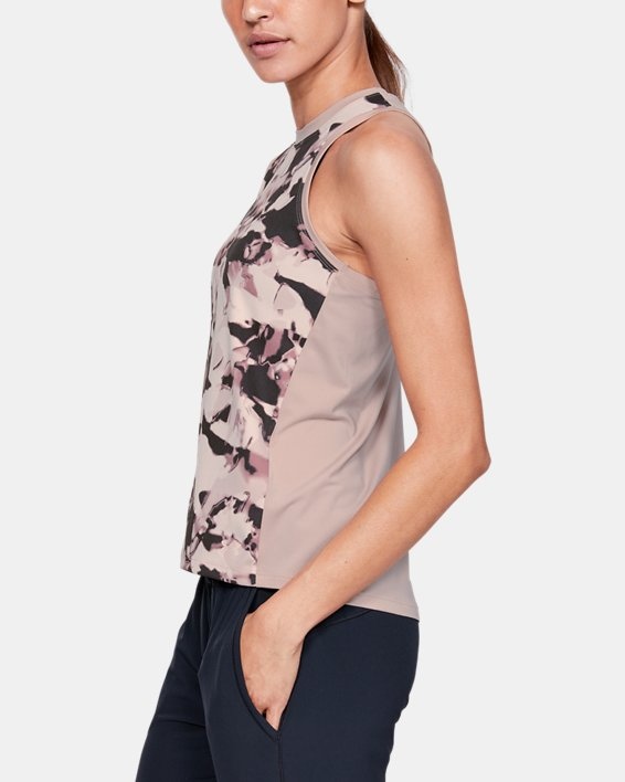 Women's UA Iso-Chill Tank Top, Pink, pdpMainDesktop image number 3