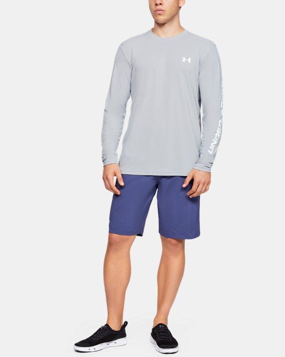 Men's UA Iso-Chill Shore Break Long Sleeve, Gray, pdpMainDesktop image number 1