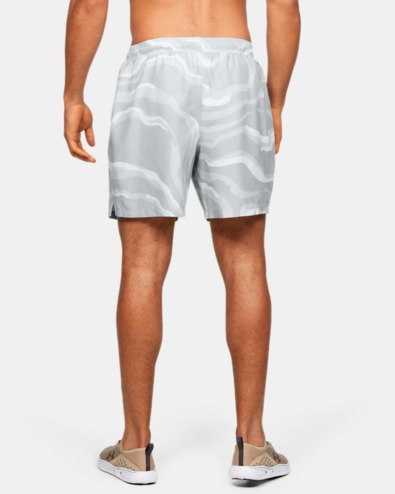 Men's UA Shore Break Volley Shorts, White, pdpMainDesktop image number 2