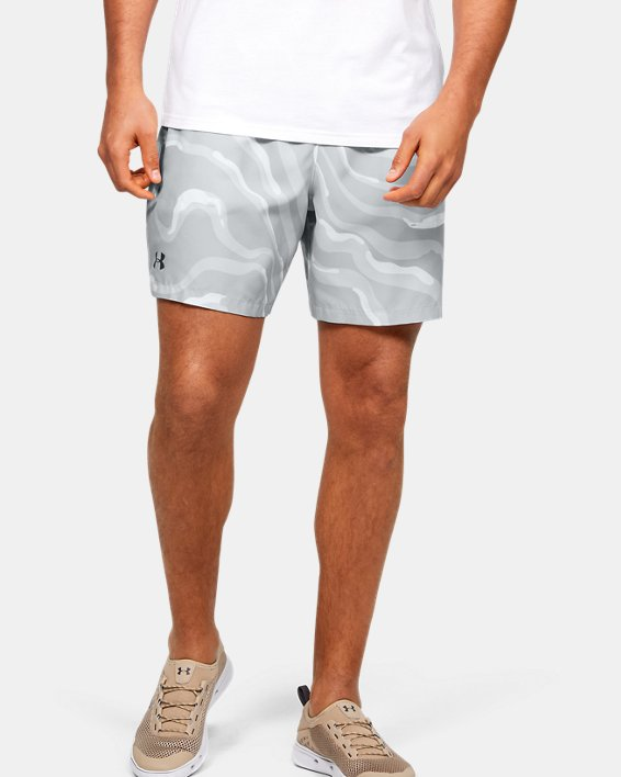 Men's UA Shore Break Volley Shorts, White, pdpMainDesktop image number 1